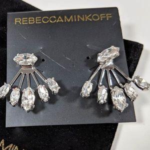 Rebecca Minkoff Rhinestone Front Back Earrings